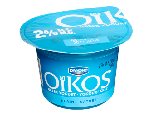 Danone Oikos Low Fat Greek Yogurt – Plain