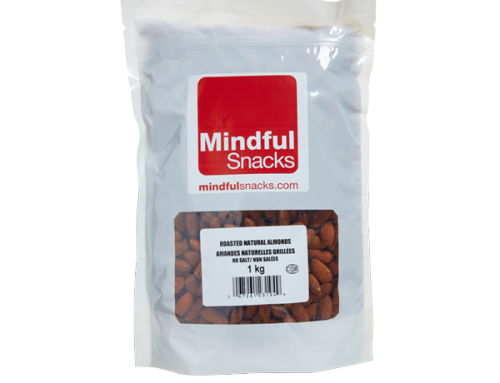Roasted Natural Almonds (No Salt) – 1kg